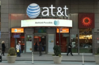 At&T business center (Photo grabbed from Reuters video)