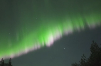 Multicolored lights lit up the night sky in striking aurora displays over Finland earlier this week.(photo grabbed from Reuters video)