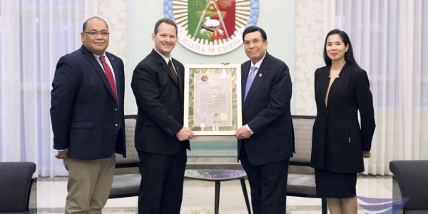 Guam's Lt. Governor visits Iglesia Ni Cristo Executive Minister, presents official proclamation recognizing INC's contribution to Guam