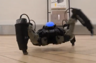World's first truly gaming robot combines augmented reality and artificial intelligence to turn your living room into a battlefield, as Stuart McDill reports. (Reuters)