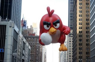 NEW YORK, NY - NOVEMBER 26: Atmosphere of Angry Birds Movie Red In Macy's Thanksgiving Day Parade on November 26, 2015 in New York City.   Ilya S. Savenok/Getty Images for Rovio/AFP