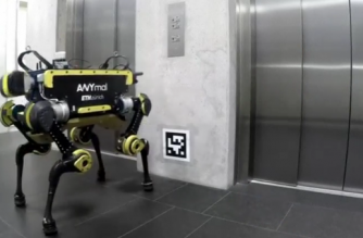 ANYmal is an autonomous quadrupedal robot designed to navigate industrial sites, with the eventual aim of inspecting oil and gas sites without human help.(photo grabbed from Reuters video)