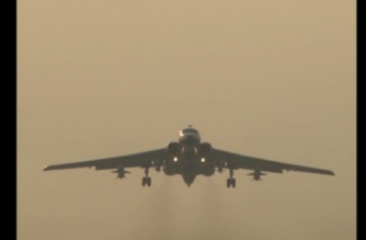 The PLA air force recently conducted a combat air patrol in the South China Sea, said a military spokesperson on Thursday.(photo grabbed from Reuters video)