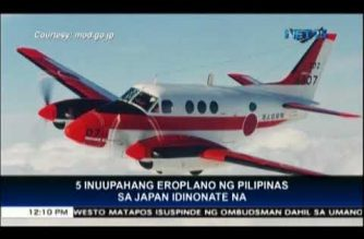 Japan donates 5 surveillance planes to the Philippines