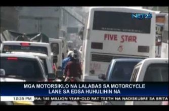 MMDA to strictly implement rules on motorcycle lane next week