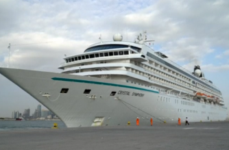 Qatar receives several cruise ships as the country remains hopeful that the arrival will attract up to 50,00 tourists by the end of the season.(photo grabbed from Reuters video)