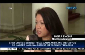 SC Chief Justice Sereno still studying options on impeachment hearing