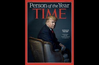 (FILES): This file photo obtained December 7, 2016 courtesy of TIME shows then US president-elect Donald Trump as Person of the Year cover. / AFP PHOTO / TIME Inc. / Nadav KANDER