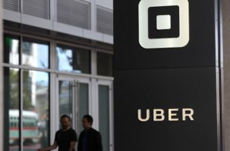 (FILES) This file photo taken on August 26, 2016 shows the logo of the ride sharing service Uber seen in front of its headquarters in San Francisco, California.  / AFP PHOTO / GETTY IMAGES NORTH AMERICA / JUSTIN SULLIVAN