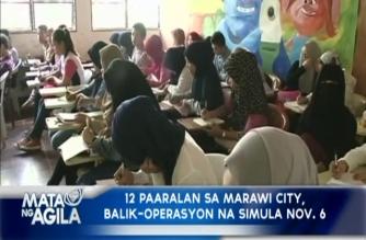 12 paaralan sa Marawi City, balik-operasyon na simula Nov. 6