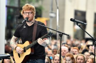 """File Photo of Ed Sheeran performing in NBC's """"Today"""" at Rockefeller Plaza on July 6, 2017 in New York City.   Dimitrios Kambouris/Getty Images/AFP"""