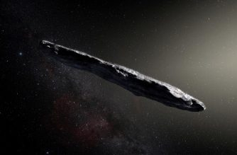 "This handout photo released by the European Southern Observatory on November 20, 2017 shows an artist's impression of the first interstellar asteroid: Oumuamua.  This unique object was discovered on 19 October 2017 by the Pan-STARRS 1 telescope in Hawaii. Subsequent observations from ESO's Very Large Telescope in Chile and other observatories around the world show that it was travelling through space for millions of years before its chance encounter with our star system. `Oumuamua seems to be a dark red highly-elongated metallic or rocky object, about 400 metres long, and is unlike anything normally found in the Solar System. / AFP PHOTO / European Southern Observatory / M. Kornmesser / RESTRICTED TO EDITORIAL USE - MANDATORY CREDIT ""AFP PHOTO / EUROPEAN SOUTHERN OBSERVATORY / M. Kornmesser"" - NO MARKETING NO ADVERTISING CAMPAIGNS - DISTRIBUTED AS A SERVICE TO CLIENTS"