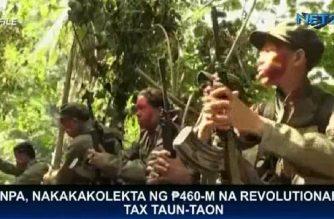 NPA, nakakakolekta ng P460-M na revolutionary tax taon-taon: AFP