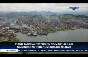AFP recommends one-year extension of martial law in Mindanao