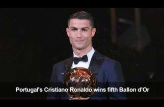 Football: Ronaldo wins fifth Ballon d'Or award