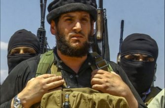 An undated picture taken from an online edition of the Islamic State's weekly magazine al-Nabaa, allegedly shows Abu Mohamed Al-Adnani, the then spokesman for the Islamic State of Iraq and the Levant (ISIL) group and its commander for Syria, believed to be one of the top commanders of this organisation, at an undisclosed location.  Al-Adnani has been killed in Syria, the Islamic State group said on August 31, 2016, with both Washington and Moscow claiming credit. / AFP PHOTO / AL-NABAA