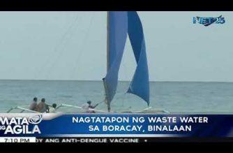 Nagtatapon ng wastewater sa Boracay, binalaan