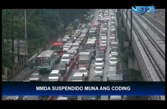 UPDATED: MMDA lifts number-coding scheme for Tuesday, December 26