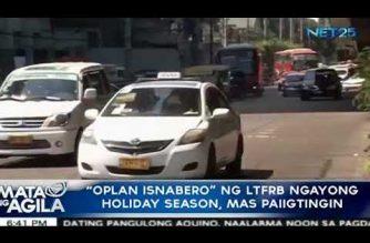 """""""Oplan Isnabero"""" ng LTFRB ngayong holiday season, mas paiigtingin"""