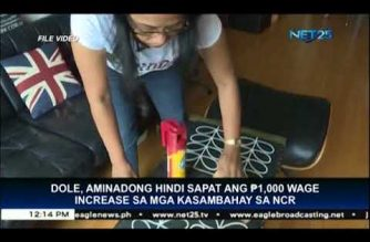 "Php 1,000 increase in wages of ""kasambahay"" not enough – DOLE"