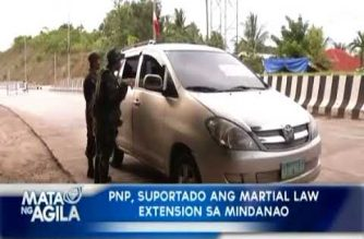 PNP, suportado ang martial law extension sa Mindanao