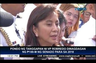 Senate adds Php 100 million to VP's budget