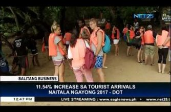 Tourist arrivals in the PHL increase in first 10 months of 2017