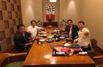 Senate President Koko Pimentel, House Speaker Pantaleon Alvarez, Senate Majority Leader Tito Sotto and House Majority Leader Rodolfo Farinas meet to discuss ways on how to move Charter Change forward./from Office of the Senate President/