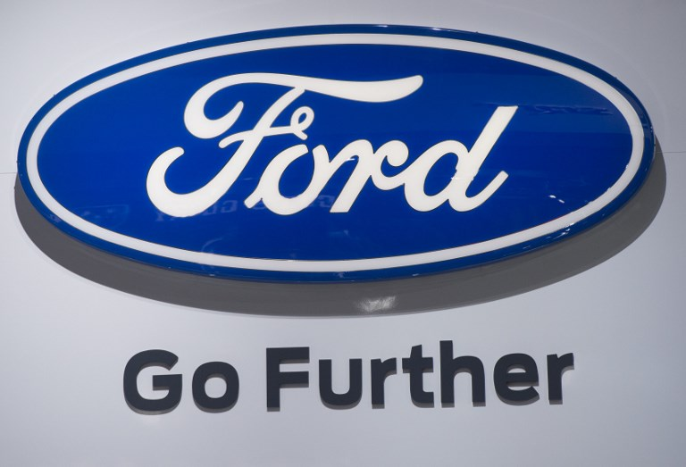 The Ford Logo Is Seen During 2017 North American International Auto Show In Detroit Michigan January 10 AFP Saul Loeb