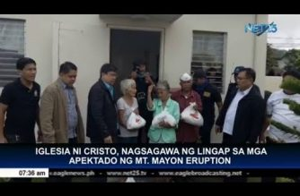 Iglesia Ni Cristo, nagsagawa ng Lingap sa mga apektado ng Mt. Mayon eruption