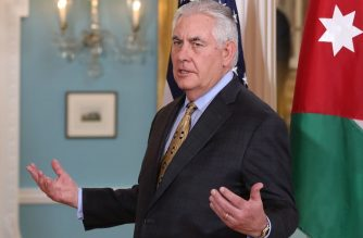 Secretary of State Rex Tillerson speaks to the media during a meeting with Jordanian Foreign Minister Ayman Safadi, at the State Department, on January 18, 2018 in Washington, DC.   Mark Wilson/Getty Images/AFP