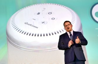 LAS VEGAS, NV - JANUARY 08: Qualcomm President Cristiano Amon speaks during a Qualcomm press event for CES 2018 at the Mandalay Bay Convention Center on January 8, 2018 in Las Vegas, Nevada. CES, the world's largest annual consumer technology trade show, runs from January 9-12 and features about 3,900 exhibitors showing off their latest products and services to more than 170,000 attendees.   David Becker/Getty Images/AFP