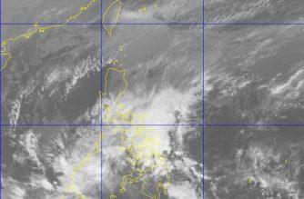"""Tropical Depression """"Basyang"""" continues to move toward southern Palawan as of 7 a.m. /PAGASA/"""