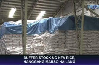 Buffer stock ng NFA rice, hanggang Marso na lang