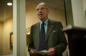 U.S. Sen. Chuck Grassley (R-IA) waits for the beginning of a news conference on immigration February 12, 2018 at the Capitol in Washington, DC.   Alex Wong/Getty Images/AFP