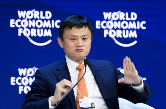 Alibaba Executive Chairman Jack Ma speaks during the annual World Economic Forum (WEF) on January 24, 2018 in Davos, eastern Switzerland.  / AFP PHOTO / Fabrice Coffrini