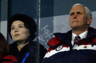 "(FILES) In this file photo taken on February 9, 2018 US Vice President Mike Pence (R) and North Korea's Kim Jong Un's sister, Kim Yo Jong, attend the opening ceremony of the Pyeongchang 2018 Winter Olympic Games at the Pyeongchang Stadium. Pence and North Korean officials had planned to meet secretly during the 2018 Winter Olympic Games, but Pyongyang scrapped the talks after the US vice president denounced abuses from the ""murderous regime,"" State Department spokeswoman Heather Nauert said in a statement on February 20, 2018. ""At the last minute, DPRK officials decided not to go forward with the meeting. We regret their failure to seize this opportunity,"" she added. / AFP PHOTO / Odd ANDERSEN"
