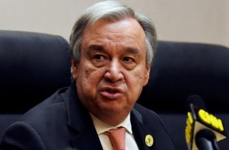 """(FILES) In this file photo taken on January 28, 2018 UN Secretary General Antonio Guterres speaks at a press conference after the opening of the Ordinary Session of the Assembly of Heads of State and Government during the 30th annual African Union summit in Addis Ababa. UN Secretary-General Antonio Guterres said February 2, 2018 that it was """"absolutely essential"""" for key players to hold """"serious"""" talks on North Korea's nuclear crisis to build on a thaw in relations between Pyongyang and Seoul. Guterres will pay an official visit to South Korea next week for talks with leaders in Seoul and to attend the opening ceremony of the Olympic Games in Pyeongchang.   / AFP PHOTO / SIMON MAINA"""