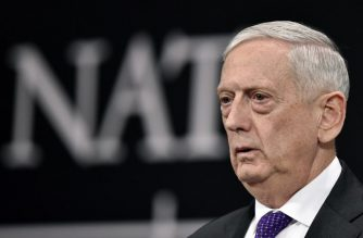 (FILES) In this file photo taken on February 15, 2018 US Defence Minister James Mattis reacts as he delivers a speech during a press conference on the second day of Defence Ministers Council meeting at the NATO headquarters in Brussels. Artificial intelligence and its impact on weapons of the future has made US Defense Secretary Jim Mattis doubt his own theories on warfare.A question on the subject prompted the retired Marine general to give an impromptu seminar on his theory of war on February 17, 2018 to reporters returning with him from a week-long tour of Europe.Recalling his own writings, he differentiated between the essential nature of war, which is unchanging because it is human, and war's character, which is changing.   / AFP PHOTO / JOHN THYS