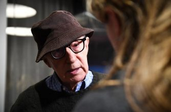 """(FILES) This file photo taken on November 14, 2017 shows US director Woody Allen attending the """"Wonder Wheel"""" screening at Museum of Modern Art  in New York City.   'Whonder Wheel' will be released on French screens on January 31, 2018.  / AFP PHOTO / GETTY IMAGES NORTH AMERICA / Dimitrios Kambouris"""