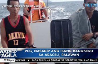 Isang bangkero nasagip ng PCG sa Araceli, Palawan