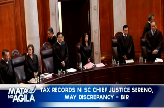 Tax records ni SC Chief Justice Sereno, may discrepancy, ayon sa BIR