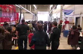 Watch:  Firemen in Canada help out in INC Giving's food drive for Edmonton Food Bank