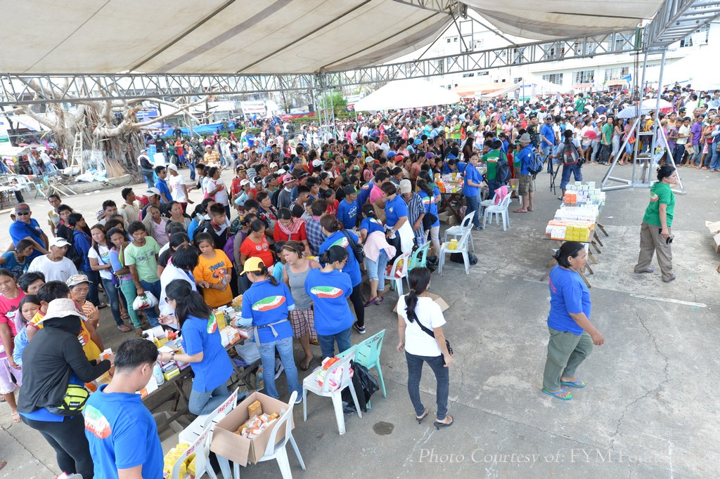 Medical volunteers who participated in the Iglesia Ni Cristo's Lingap sa Mamamayan give free medical consultations as well as free medicines to those who came to the massive relief and medical mission last Wednesday, Nov. 27 in Ormoc City, one the areas severely affected by supertyphoon Yolanda.