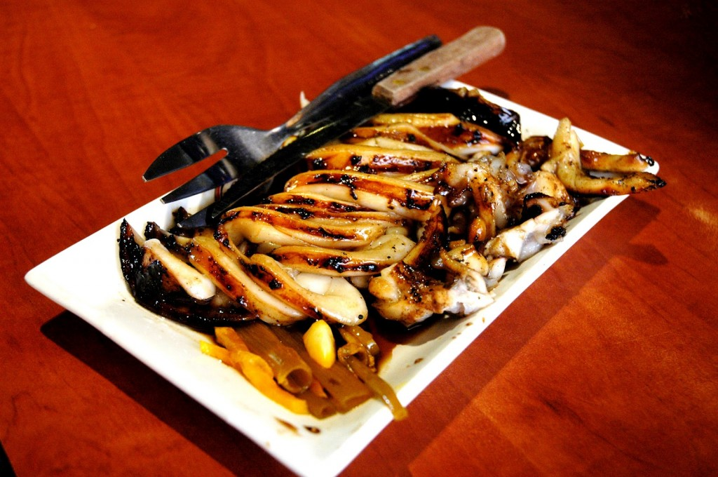 grilled squid at Gerry's Grill. Image from dude4food.com