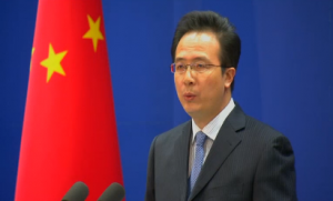 "Chinese Foreign Ministry spokesman Hong Lei expresses China's  ""strong dissatisfaction"" over comments made by the Philippines and the United States on its claims in the disputed South China Sea.  He made the announcement in a press conference in Beijing Friday (February 7) . Photo grabbed from Reuters video"