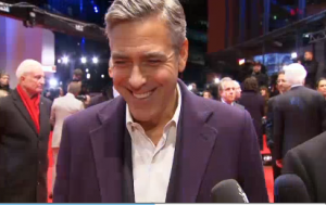 Actor George Clooney at the Berlinale red carpet. Photo grabbed from Reuters video