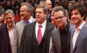 "Actor-director George Clooney and ""The Monuments Men"" cast turn Berlinale red carpet into a screaming frenzy"