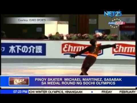 Filipino Skater Michael Christian Martinez To Compete For Medal in Sochi Winter Olympics
