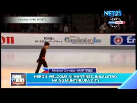 Muntinlupa City to Give Hero's Welcome to Michael Christian Martinez